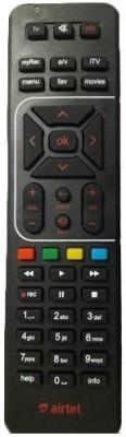 Airtel Hd Set Top Box Remote Remote Controller(Black)