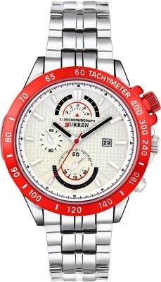 Curren 8148 White RED NEW Analog Watch   For Men Curren Wrist Watches