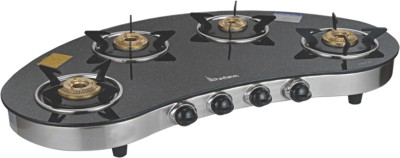 Purflames Aluminium Manual Gas Stove(2 Burners)