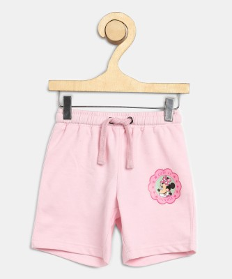 Miss & Chief Short For Girls Casual Solid Polycotton(Pink, Pack of 1) at flipkart