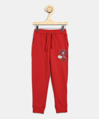 Miss & Chief Track Pant For Boys(Red, Pack of 1) at flipkart