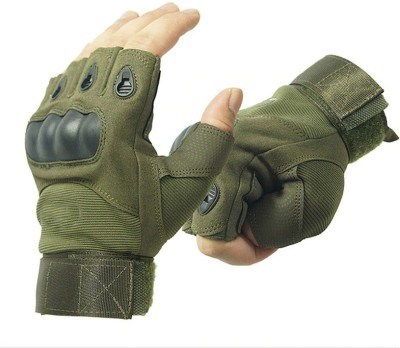 GOCART Half Finger Tactical Gloves Military Army Shooting Hunting Climbing Cycling Gym & Fitness Gloves(Green)