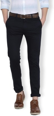 Van Heusen Slim Fit Men Blue Trousers at flipkart