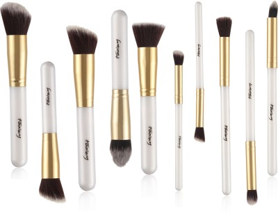Foolzy Pack of 10 Professional Makeup Brushes Kit Pack of 10 Foolzy Makeup Brush
