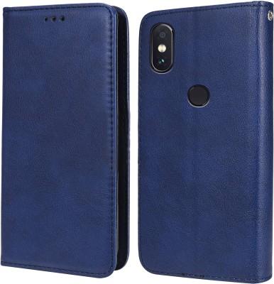 Unistuff Flip Cover for Mi Redmi Note 5 Pro(Blue, Dual Protection)