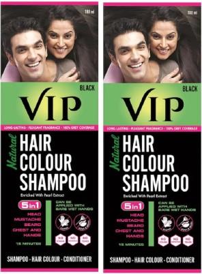 VIP Natural Hair Colour Shampoo Hair Color(Black)