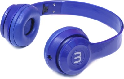 Well Mark Headphone (Blue) Wired Headset with Mic(Blue, Over the Ear)