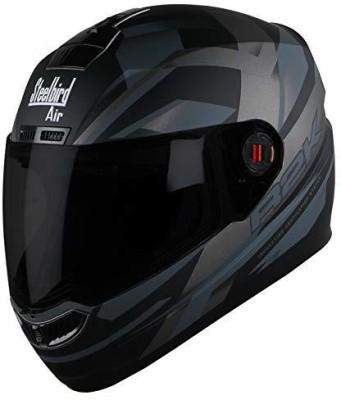 Steelbird AIR SBA-1 R2K Motorbike Helmet(Matt Black/Grey with Smoke Visor)