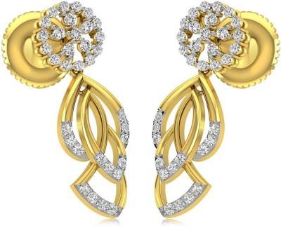 Rockrush Parushi Cluster Diamond Earrings Yellow Gold 14kt Drop Earring