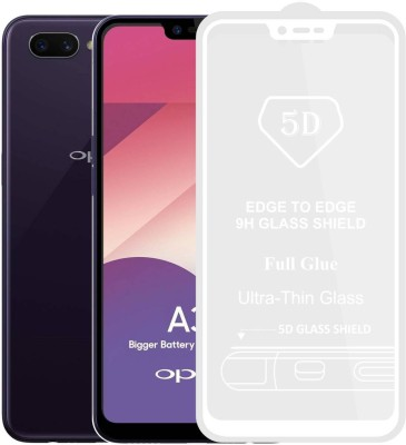 Case Designer Edge To Edge Tempered Glass for OPPO A5, Oppo A3s, Realme 2, Realme C1(Pack of 1)