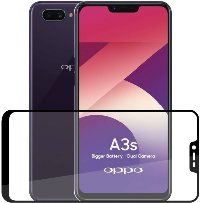 Case Creation Edge To Edge Tempered Glass for Oppo A3s(Pack of 1)
