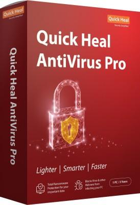 Quick Heal Anti-virus 1 User 3 Years(CD/DVD)