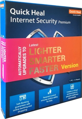 Quick Heal Internet Security 1 User 3 Years(CD/DVD)