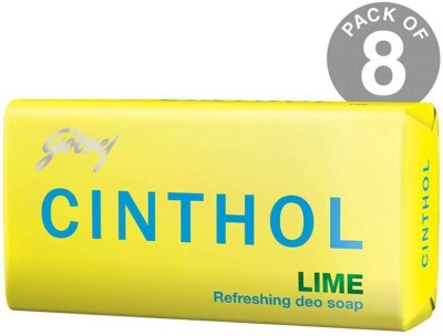 CINTHOL LIME SOAP PACK OF 8(8 x 100 g)