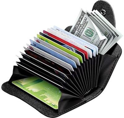 Flipkart SmartBuy Dark Brown Credit-Card Organizer Snap Wallet Money Case Leather Mini Purse for Men & Women 15 Card Holder(Set of 1, Multicolor)