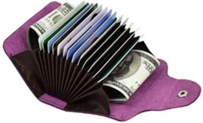 Flipkart SmartBuy Purple Credit-Card Organizer Snap Wallet Money Case Leather Mini Purse for Men & Women 15 Card Holder(Set of 1, Purple)