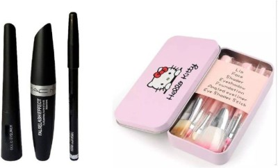Hello Kitty Pink make up brush and 3 in 1(Set of 10)