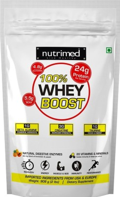Nutrimed 100% Whey Boost Whey Protein with Enzymes, Beta Alanine, Creatine, Taurine (908gm, Cookies and Cream)