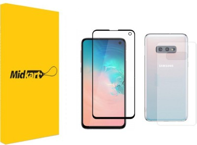 Midkart Front and Back Screen Guard for Samsung Galaxy S10e Front Full Tempered Glass with Back Fibre Guard Screen Protector
