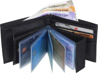 SAMTROH Men Formal Black Artificial Leather Money Clip(8 Card Slots)