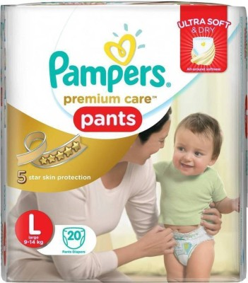 Pampers Premium Care Pants Diaper L  20    L Pampers Baby Diapers