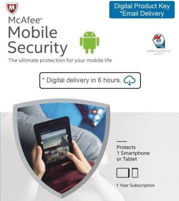 McAfee 1 User 1 Year Mobile Security (Email Delivery - No CD)(Standard Edition)