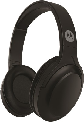 Motorola HP-BT-Moto-Escape 200 with Google Assistant Bluetooth Headset(Black, On the Ear)