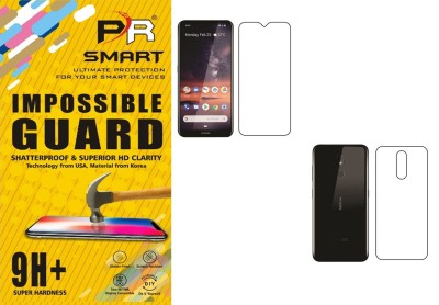PR SMART Front and Back Tempered Glass for nokia 3.2, Nokia 3.2, (Flexible)(Pack of 2)