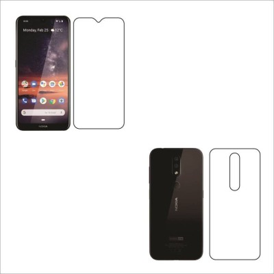 FIRST IMPRESSION Front and Back Tempered Glass for Nokia 4.2, nokia 4.2, (Flexible )(Pack of 2)
