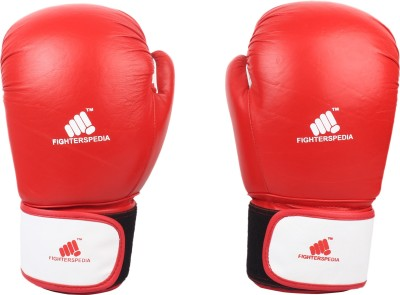 Fighterspedia Leather Training Boxing Gloves, Martial Art Gloves(Red & Blue)