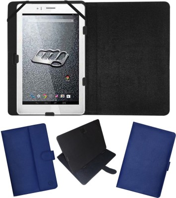 Fastway Flip Cover for Micromax Canvas Tab P666(Blue, Cases with Holder)