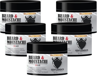 Duzberry Beard & Mustache Styling Wax (Pack of 5) Hair Wax(110 ml)