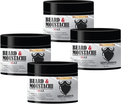 Duzberry Beard & Mustache Wax - Extra Strong for Men (Pack of 4) Hair Wax(110 ml)
