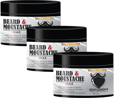 Duzberry Strong Hold Beard & Mustache Hair Wax (Pack of 3) Hair Wax(110 ml)
