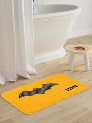 Saral Home Microfiber Baby Bath Mat Yellow, Medium