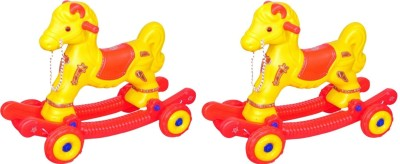 Naina 2 in 1 rider horse combo red and yellow pack of 2(Red)