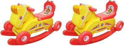 Naina 2 in 1 rider horse combo Red and yellow pack of 2 Horse(White)