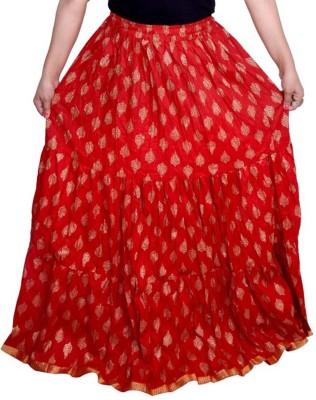 Kastoori Collection Printed Women Regular Red Skirt