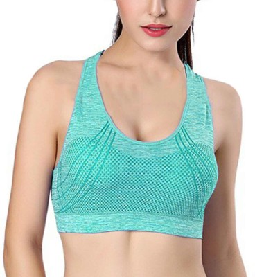Secret Wear Women Sports Non Padded Bra(Blue) at flipkart