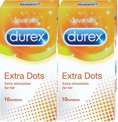 Durex DUREX_EXTRA_DOTS Condom(Set of 2, 10S)
