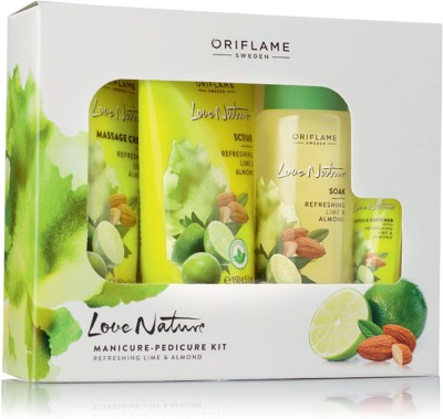 Oriflame Sweden LOVE NATURE (MANICURE-PEDICURE) KIT(465 ml, Set of 1)