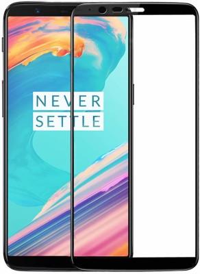 KHR Edge To Edge Tempered Glass for Oneplus 5T 11D Tempered Glass Full glue Edge to Edge Coverage Anti-Scratches/Shatter/Fingerprint(Pack of 1)