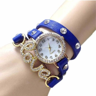 WANTON blue exclusive diamond studded prisiouse collaction love bracelet for valantine Watch For Girls Analog Watch  - For Women