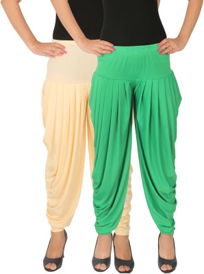 Fashion And Freedom Lycra Blend Solid Patiala