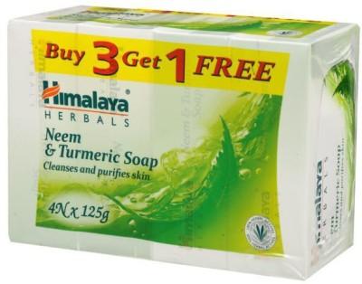 Himalaya NEEM & TURMERIC SOAP CLEANSES & PURIFIES SKIN(4 x 125 g)