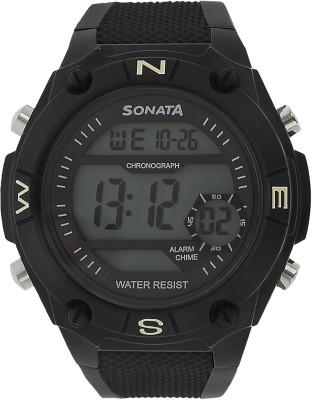 SONATA NH77033PP04 Digital Watch   For Men SONATA Wrist Watches