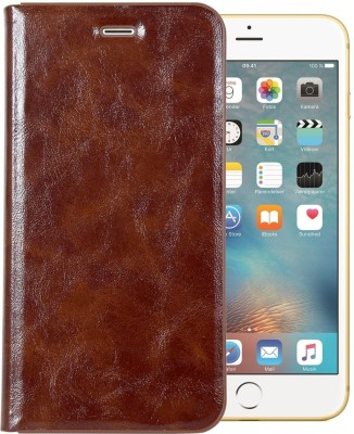 Heavy duty Wallet Case Cover for Apple iPhone 6 Plus & iPhone 6s Plus (5.5 Inch)(Brown, Cases with Holder)