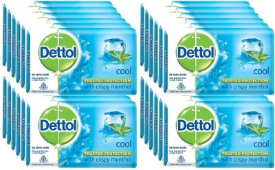 Dettol Bathing Bar Soap,Epic Cool ( Pack of 24) 125G*24(3000 g)