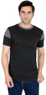 LALAN TOP Color Block Men Round Neck Black T-Shirt