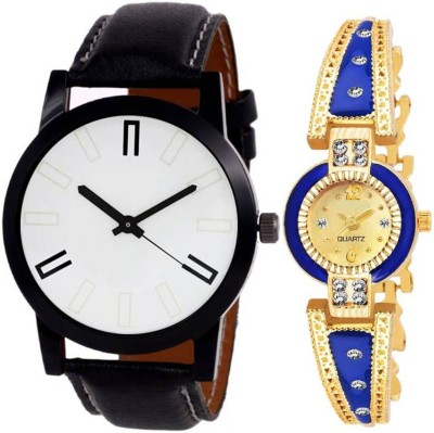 BOBO BIRD BBR14 Combo pack 2 New Designer Diamond Stunned Juliet Multicolor Dial Bracelet Couple Watch For Men & Women Analog Watch  - For Couple